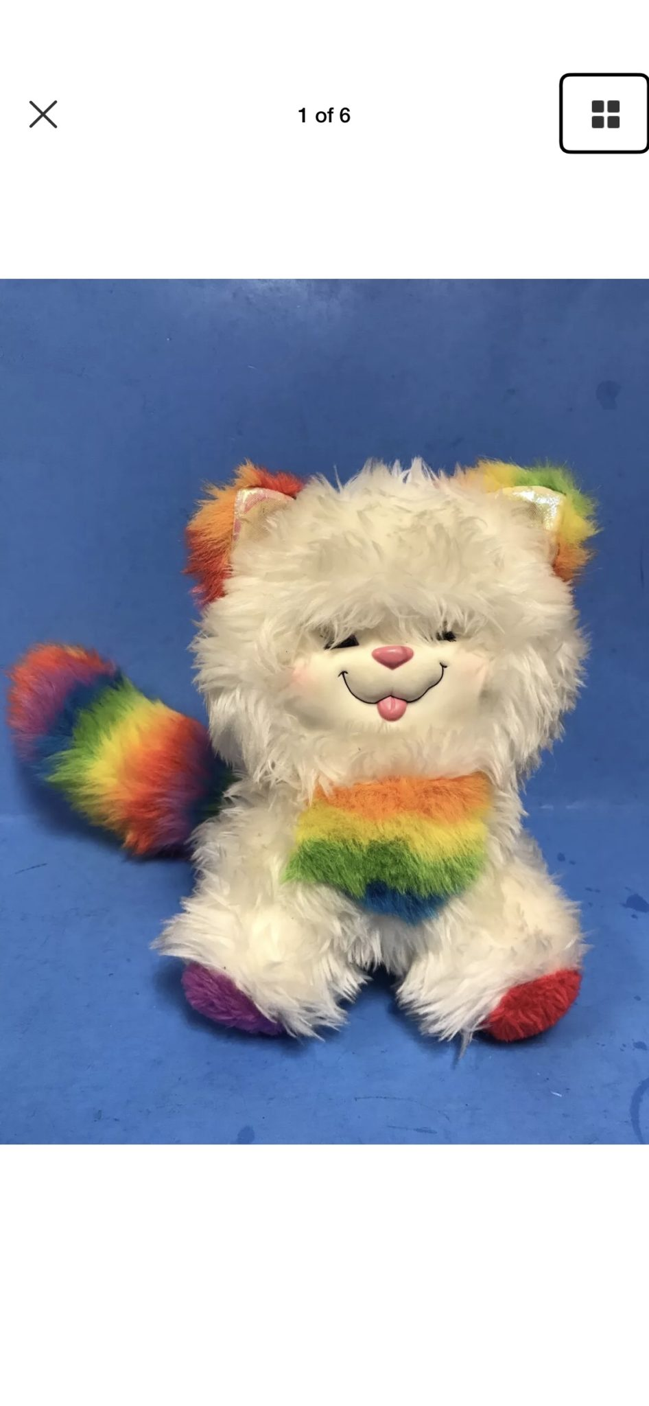 Plush Hallmark Rainbow Bright cat.