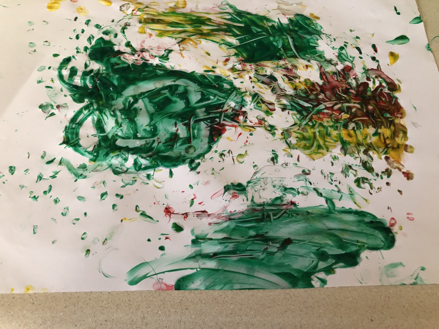 Pinecone painting creation