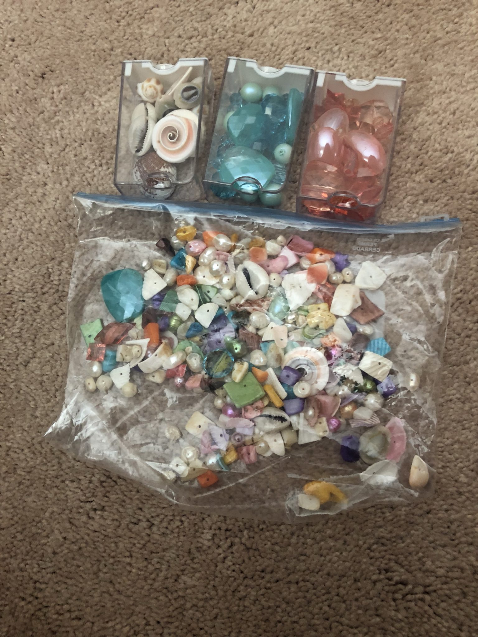 Beads and shells.
