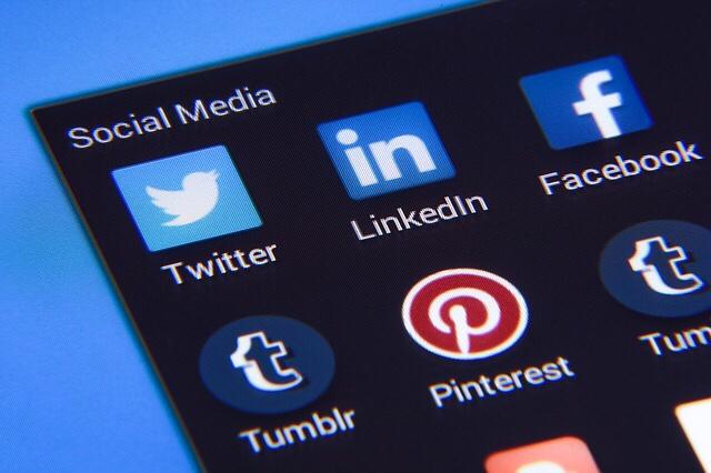 Variety of social media icons.