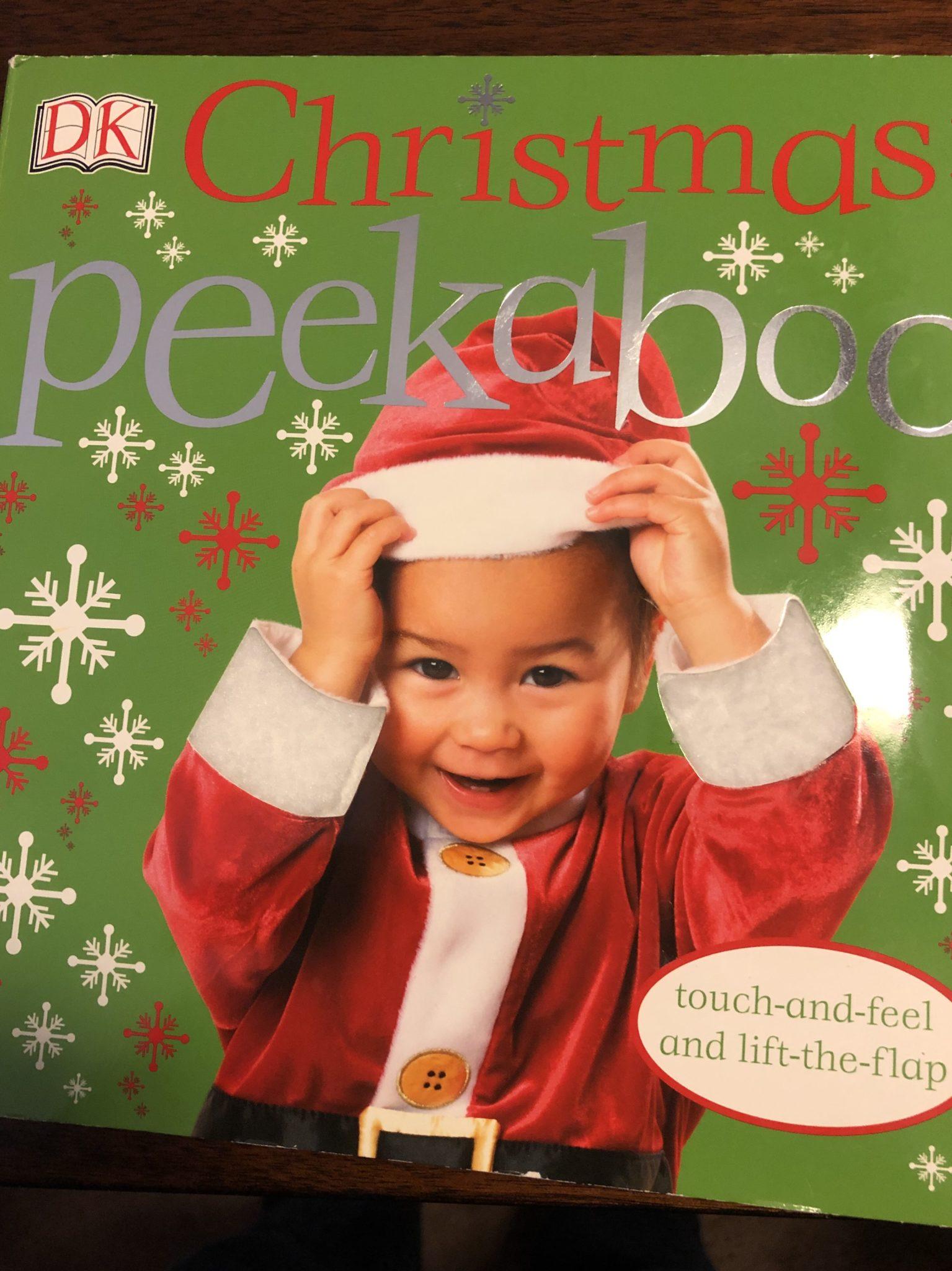 Peekaboo Christmas book cover.