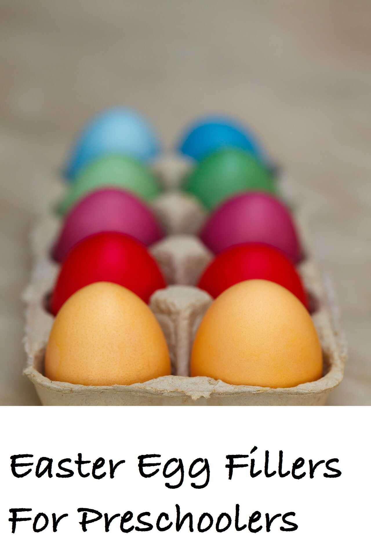 Easter Egg Fillers for Preschoolers pin