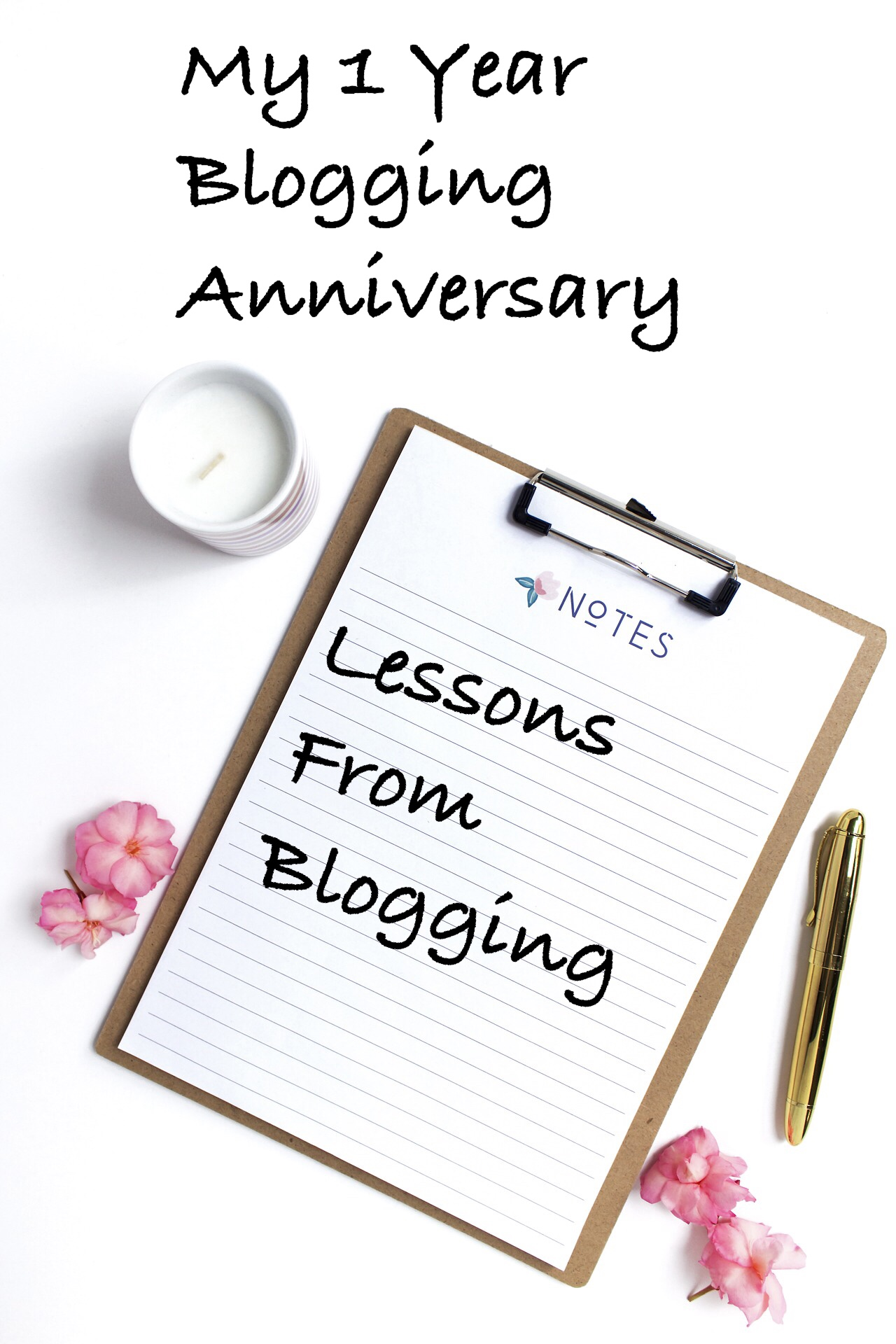 One year blogging anniversary pin