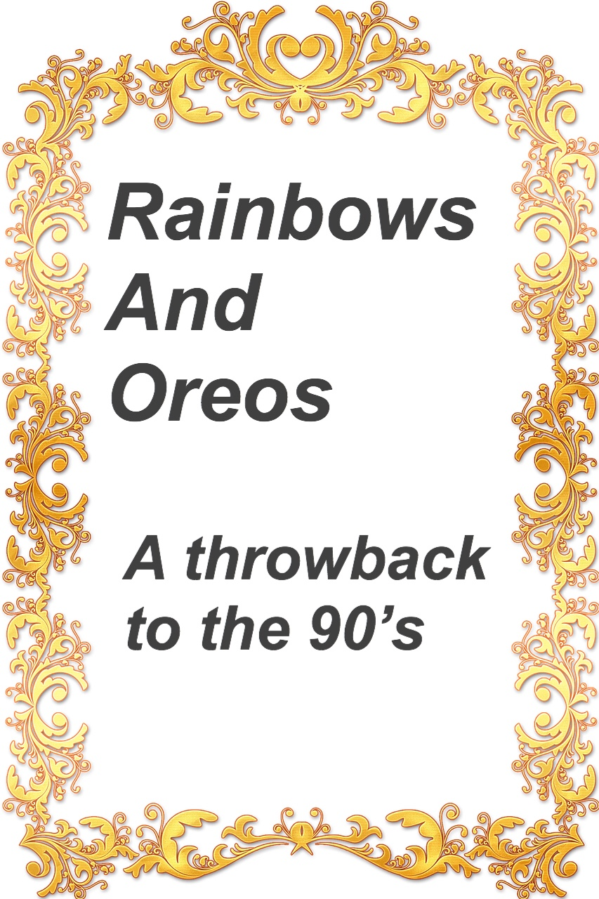 Rainbows and Oreos pin