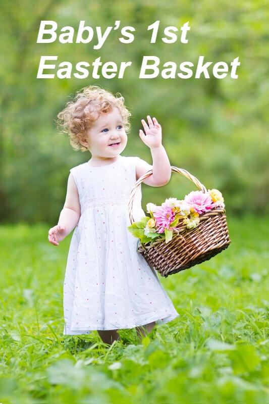Baby's 1st Easter Basket, spring garden pin