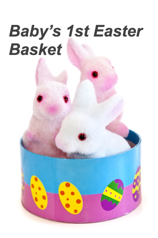 Baby's 1st Easter Basket, bunny pin