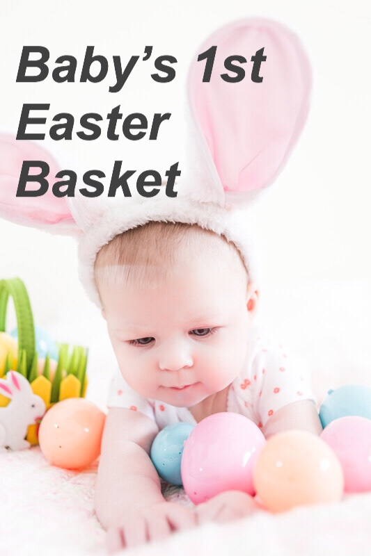 Baby's 1st Easter Basket, eggs pin