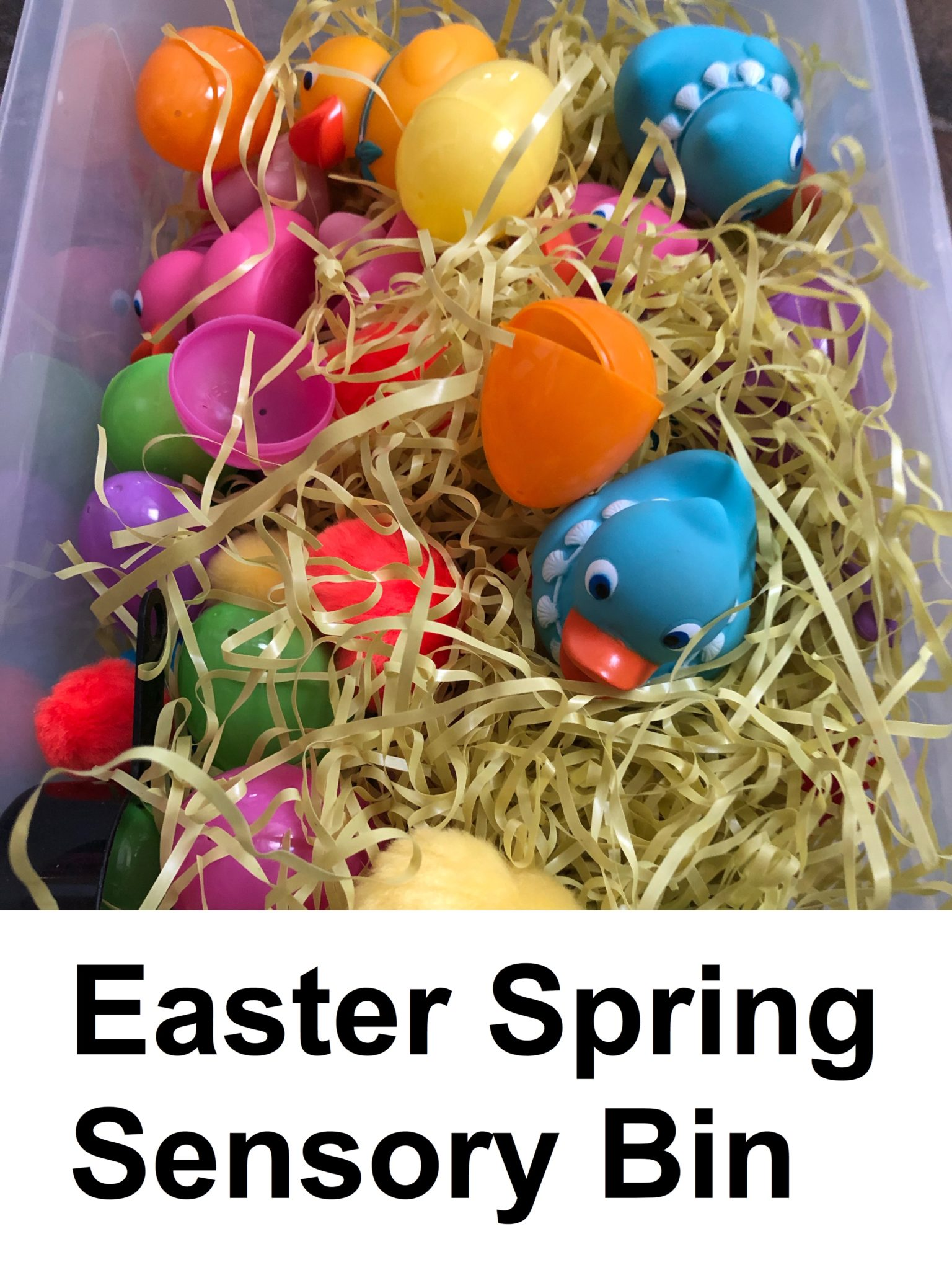 Easter Spring Sensory Bin pin