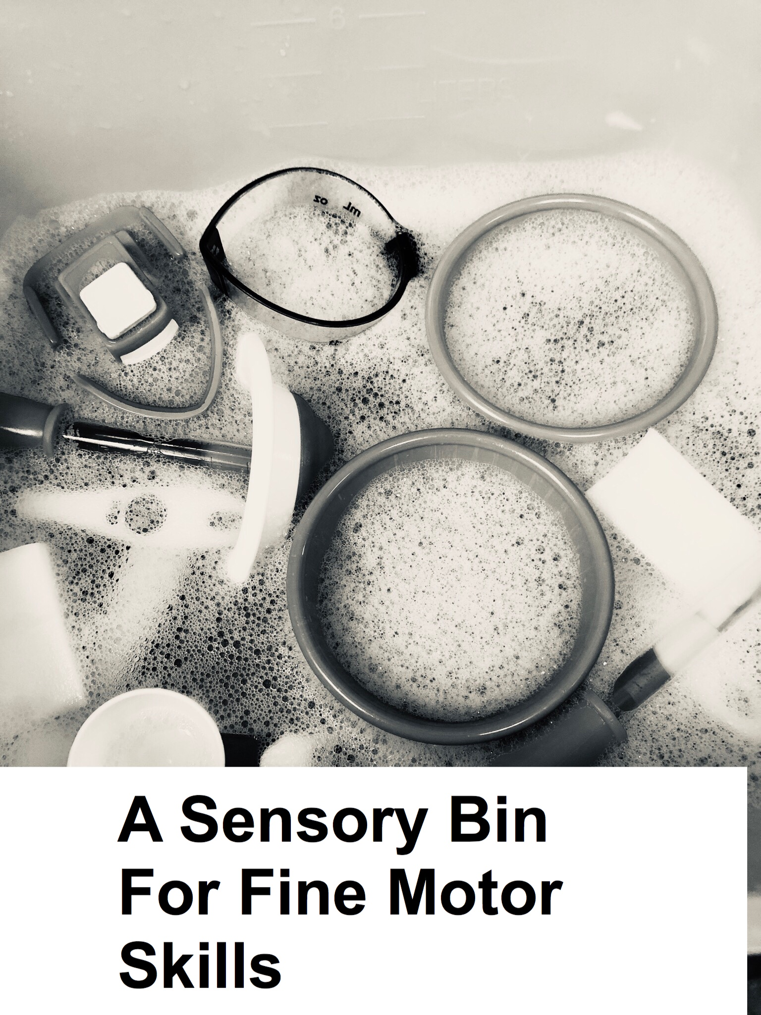 Sensory Bin for Fine Motor Skills pin.