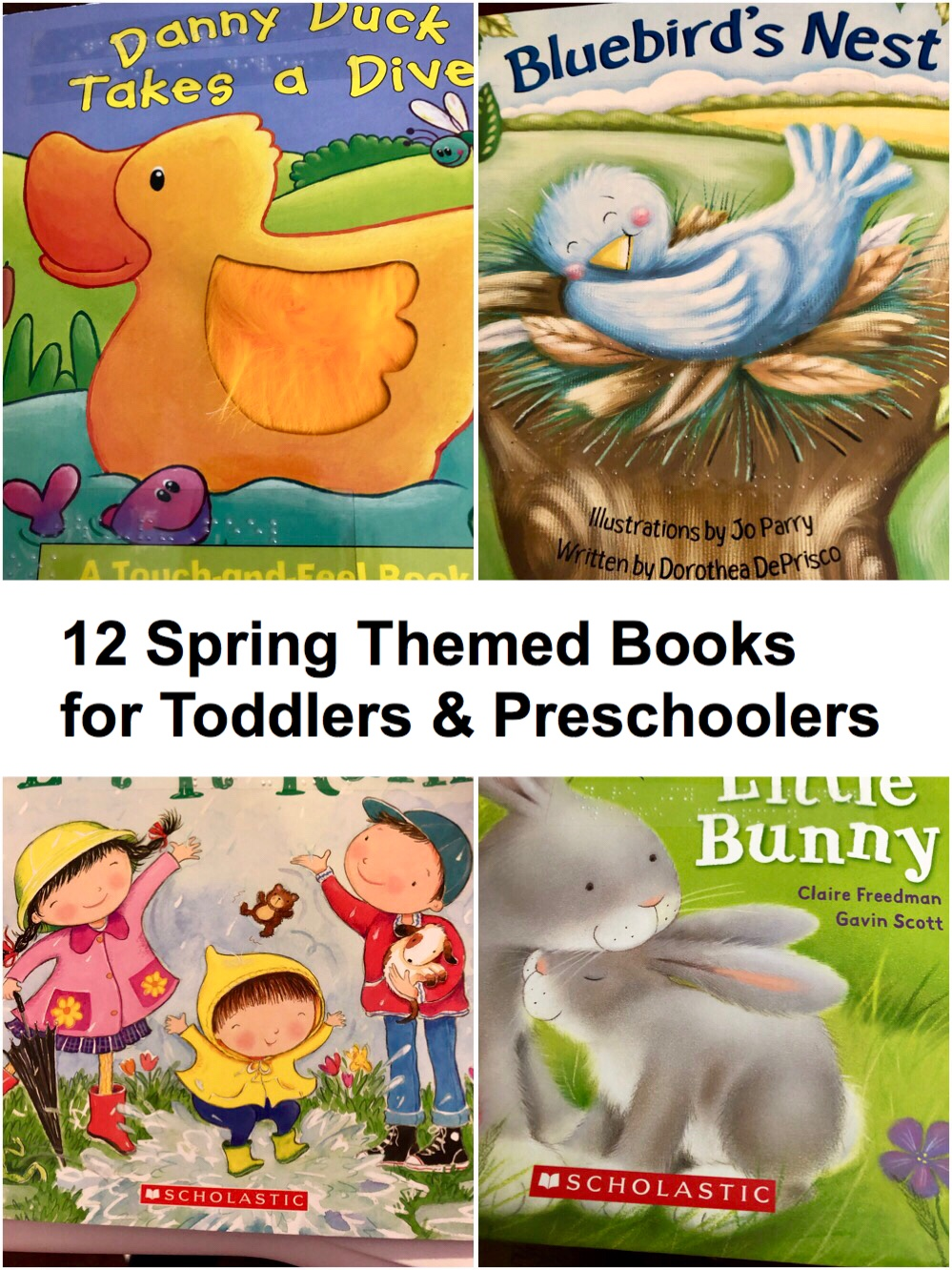 12 Spring Themed Books for Toddlers and Preschoolers pin