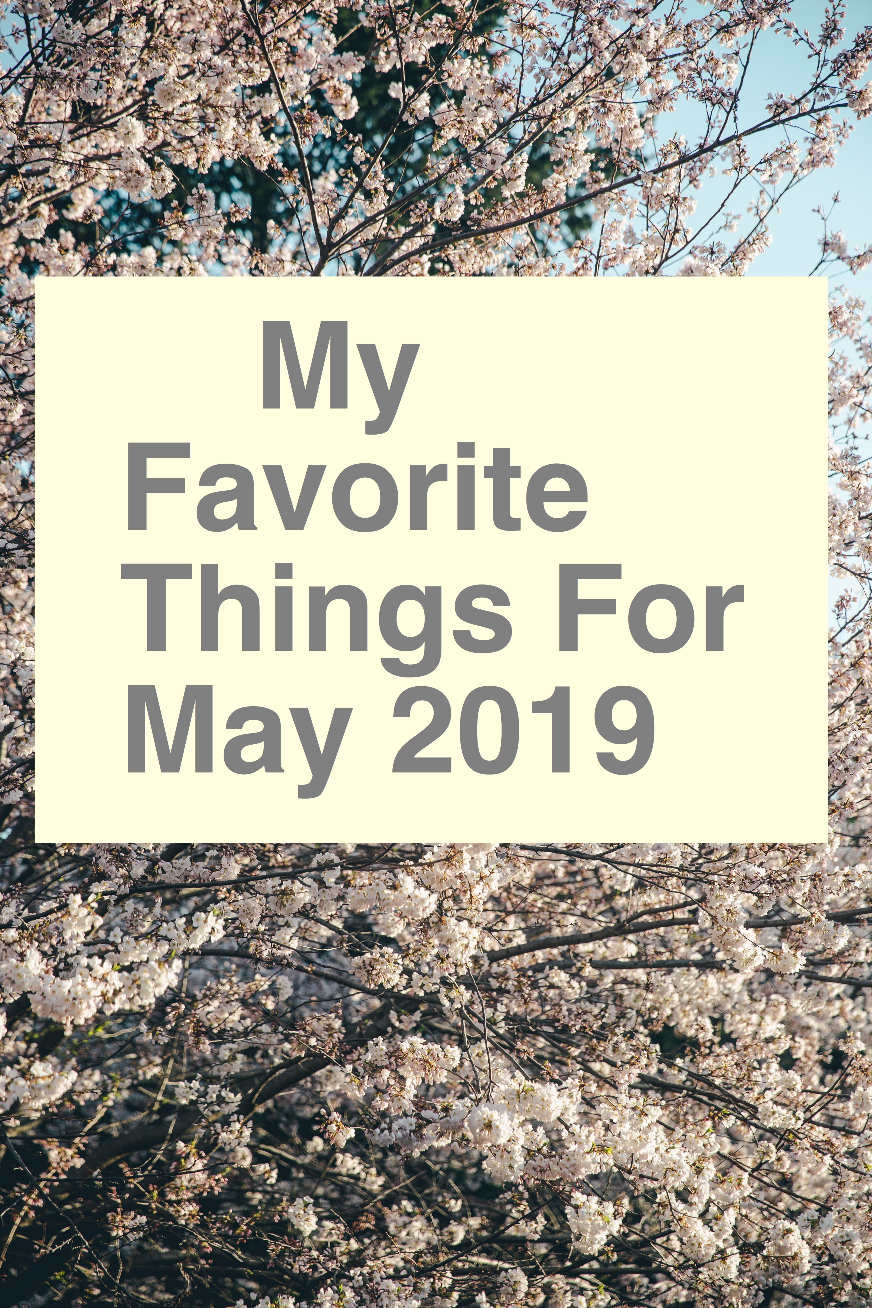 May Favorites pin