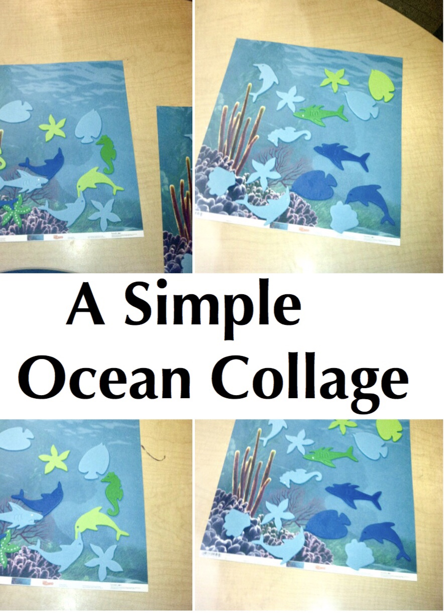 Ocean collage pin