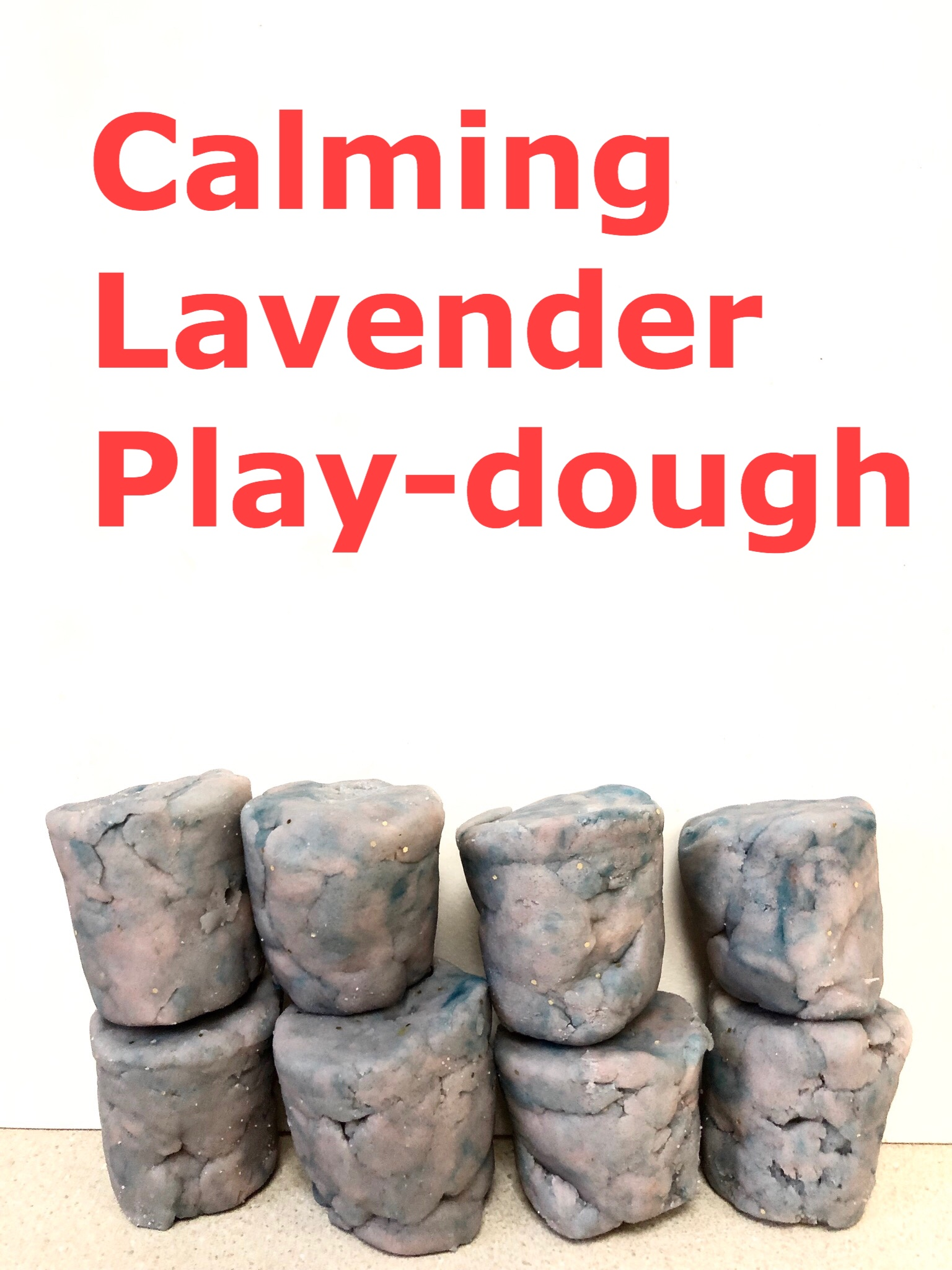 Calming lavender play-dough pin