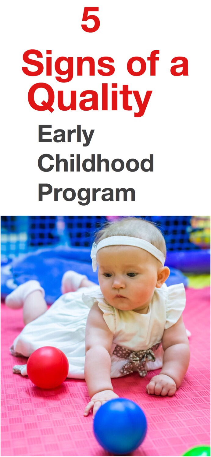 5 Signs of a quality early childhood program pin