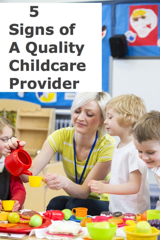 Signs of a quality childcare provider pin