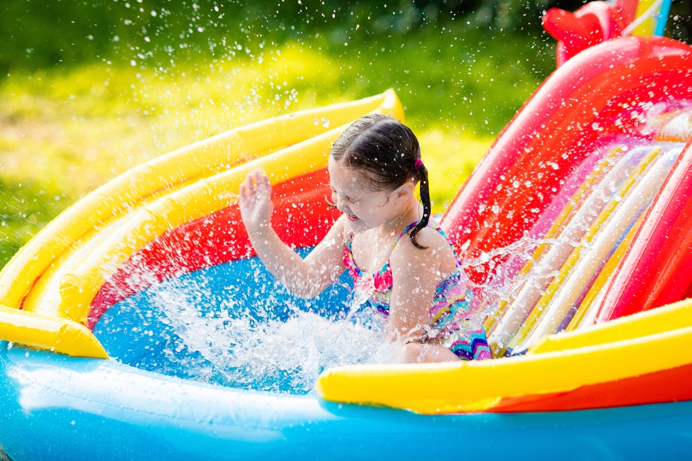 Children playing in baby pool