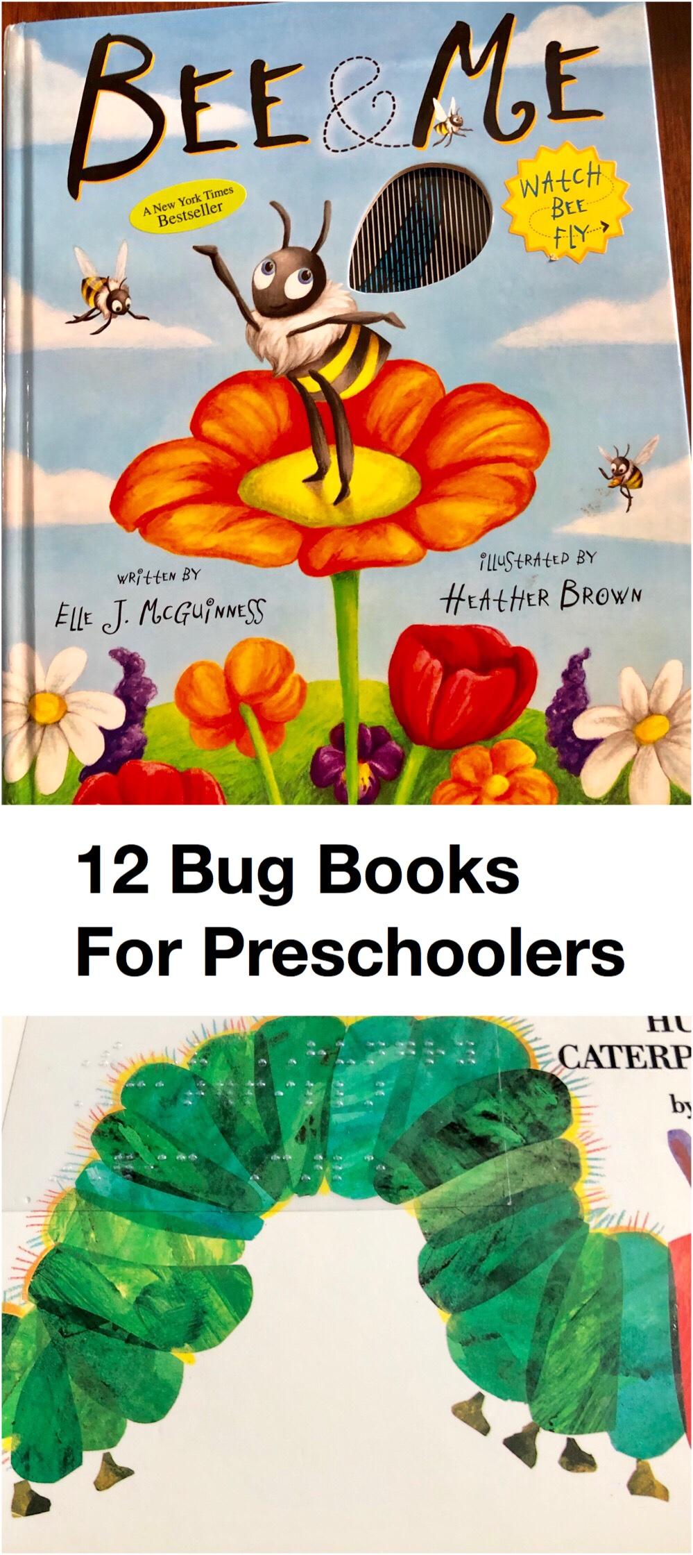 12 Bug Books for Preschoolers pin