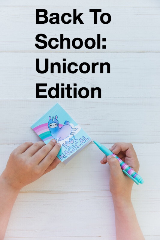 Back to school Unicorn supplies pin
