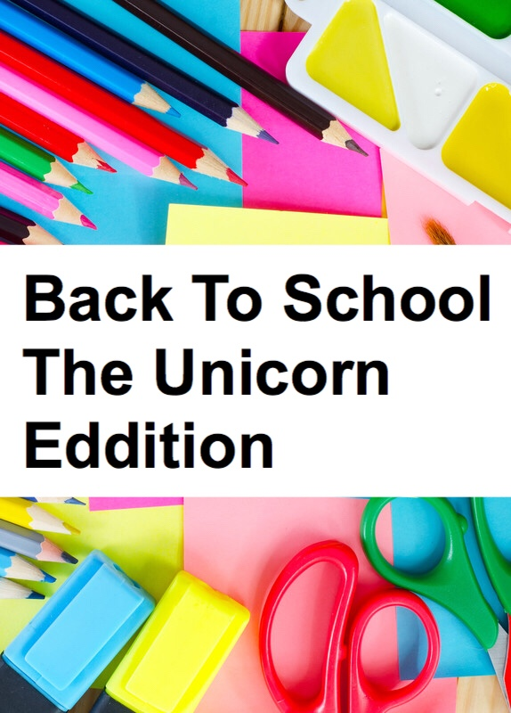 Unicorn Edition: school supplies pin