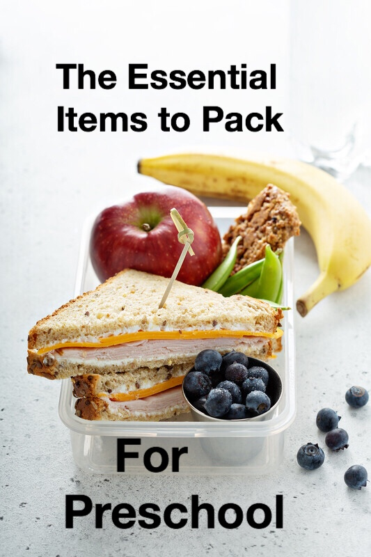 Essentials to pack for preschool