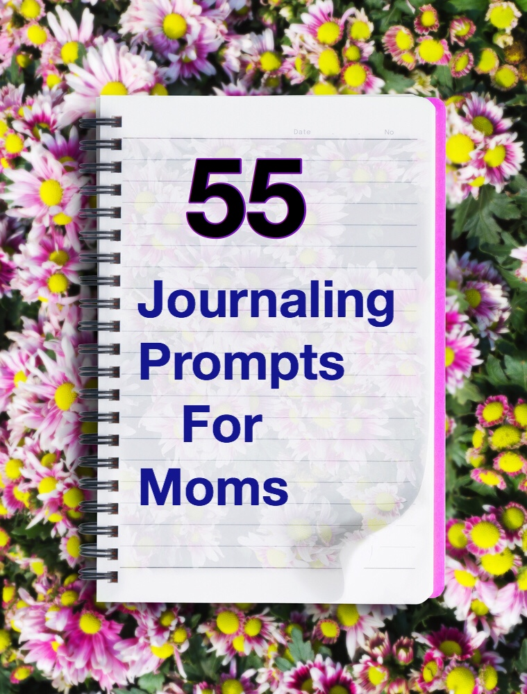55 Journaling Prompts for Moms pin