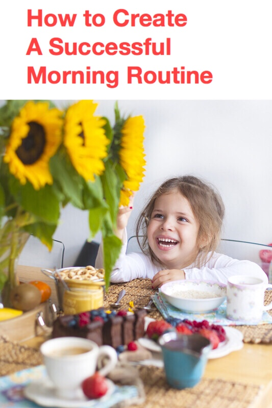 How to create morning routines pin