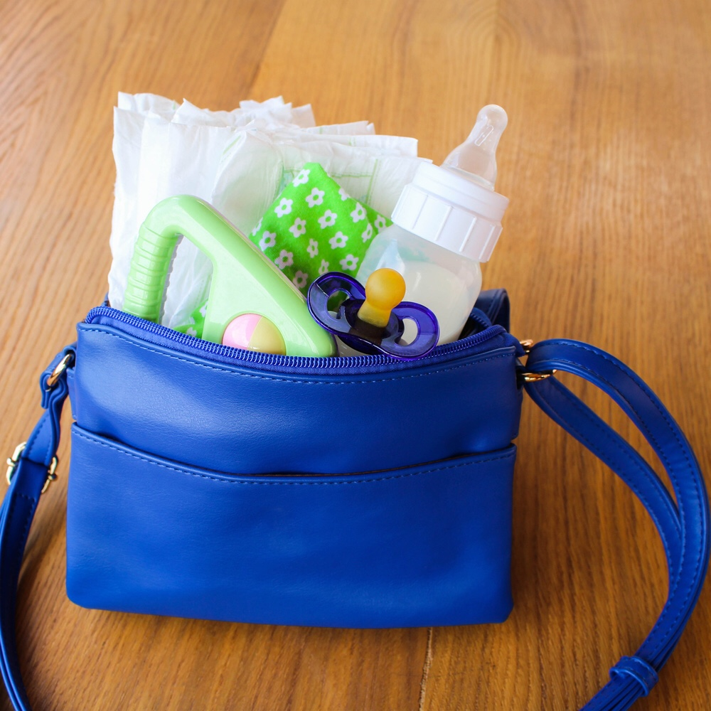 Bag with baby items