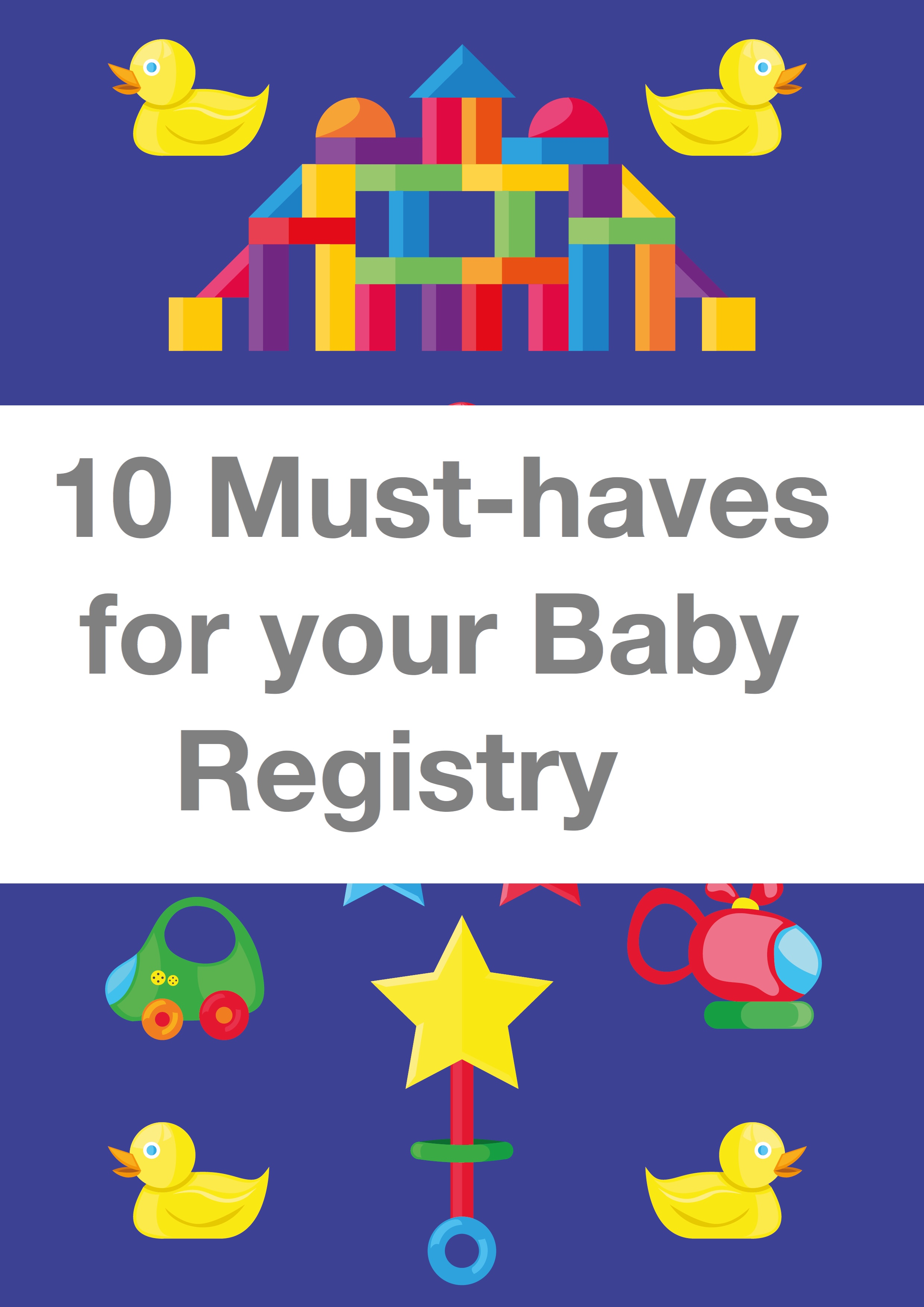10 Must-haves for your baby Registry pin