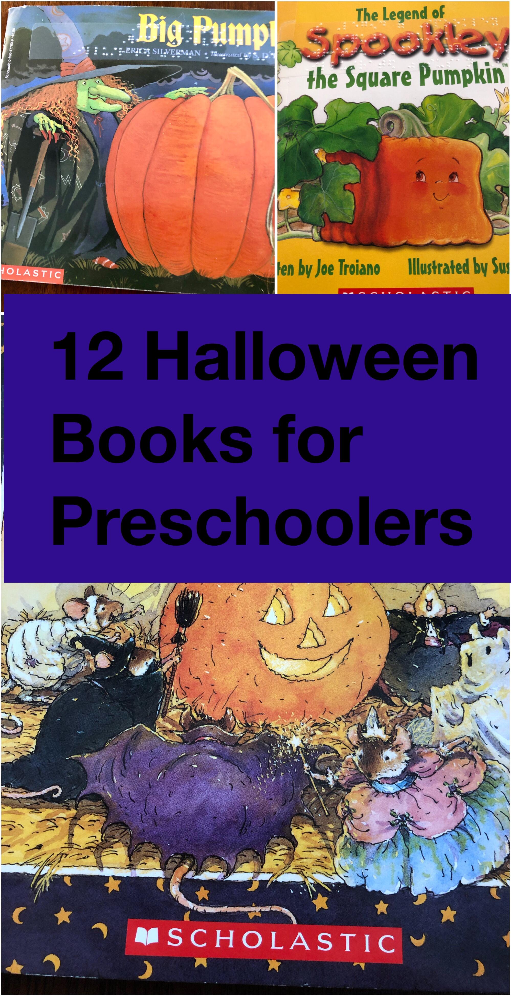 12 Halloween books for preschoolers pin