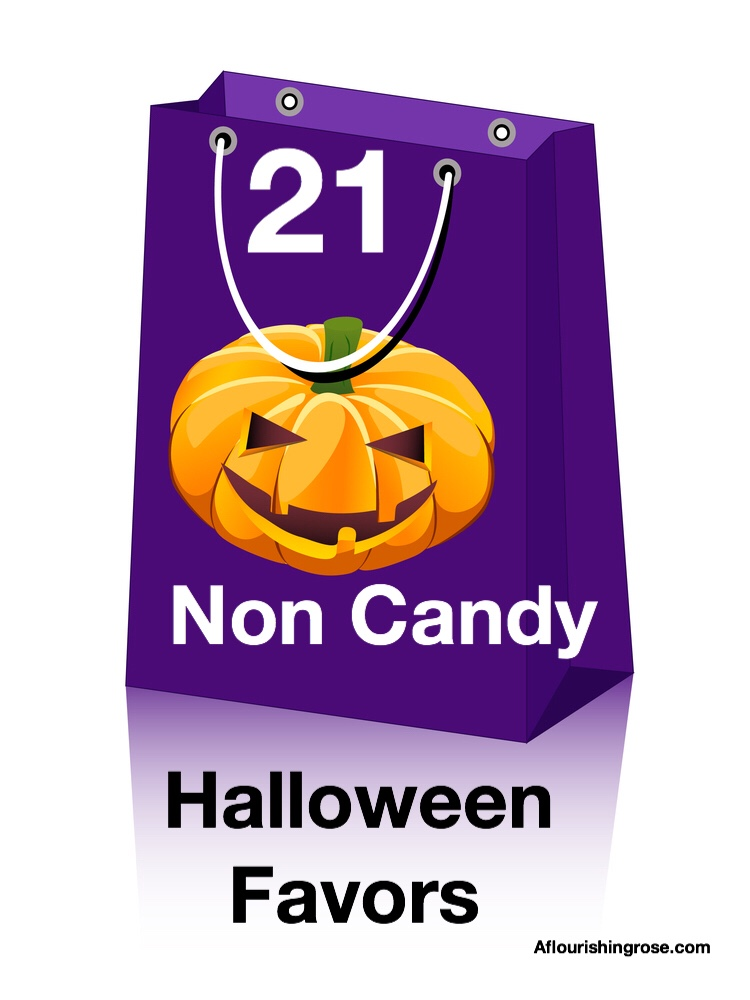 21 Non Candy Halloween Favors pin