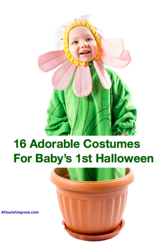 16 Adorable costumes. Girl dressed as flower pin